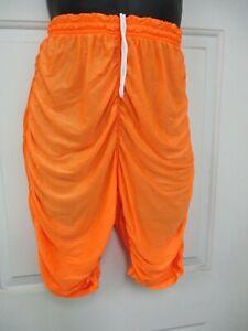 Bill Rogers Mens Neon Orange  Drawstring Bicycling Shorts Large w/Logo USA Made