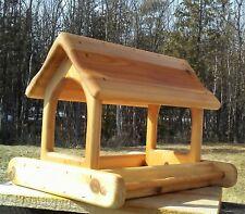 Cute large, cedar wood fly through platform bird / squirrel feeder, TBNUP #2