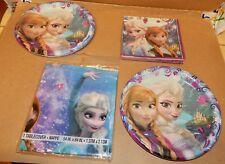 Disney Frozen Princesses Party Table Cover 16 Napkins Lg Paper Plates 16ea 163X