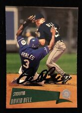 DAVID BELL 2000 TOPPS STADIUM CLUB Autograph Signed AUTO Baseball Card 124 MARIN