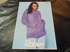 Robin Chunky Pattern 3025 Oversize Sweater and Cowl