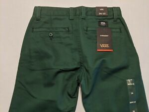 Vans New Authentic Chino Stretch Straight Leg Pants Youth Boy's Size 26/12