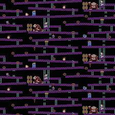 Nintendo Donkey Kong Jumpman's Ascent 100% Cotton fabric by the yard
