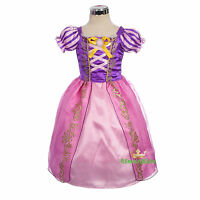 Princess Rapaunzel Purple Pink Costumes Cosplay Fancy Party Dress Size 2-7 FC056