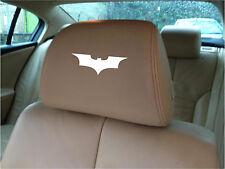BATMAN LOGO CAR SEAT / HEADREST  - BADGE - Vinyl Stickers - Graphics X5