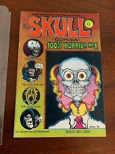 SKULL Comics No. 1 Fine Plus 2nd printing Irons Hayes JaXon Underground [1970]