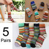 Men Women Wool Winter Socks Cashmere Thick Warm Soft Solid Casual Sports 5 Pairs