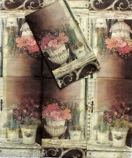 Two (2) Single Guest Towels Buffet Decoupage Napkins 2-ply - Veranda Florals