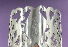 More details for nice quality pierced sterling silver napkin ring american