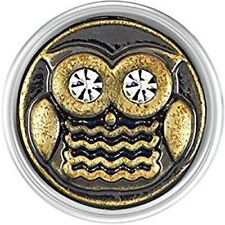 Gp20-03 Snap Interchangeable Jewelry New! Petite Ginger Snaps Brass Owl