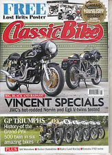 CLASSIC BIKE 438 July 2016 VINCENT SPECIALS+LOST BRITS/TRIUMPH T120R POSTER New
