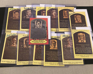 Lot of 13 HOF Plaque Postcard Autographs ALL JSA Leonard Conlan Dickey Feller++