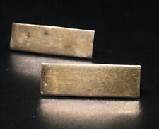 Vintage Sterling Silver Brooch Pin 925 Gold Tone Bars Vanguard Signed