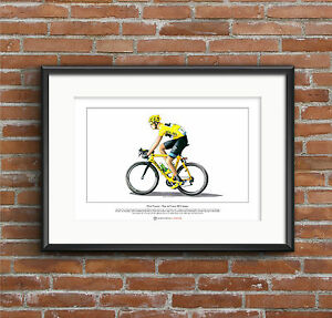 Chris Froome - Tour de France 2013 winner - Ltd Edition Fine Art Print A3 size