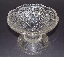 Vintage Imperial Glass Pressed Glass Punch Bowl Stand - Broken Arches Pattern