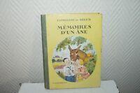 LIVRE MEMOIRE D UN ANE COMTESSE DE SEGUR FLAMMARION BOOK VINTAGE 1931 JODELET