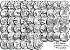 "1999-2009 US State Territorial Quarters Complete Uncirculated Set ""P"" 56 coins"