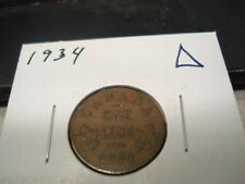 1934 - Canada - one cent - Canadian penny