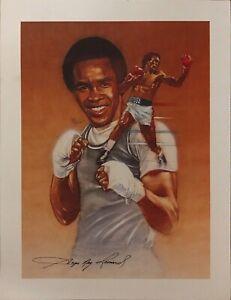Vintage 1976 Montreal Olympics Sugar Ray Leonard Print Promo Sketch Boxing Photo