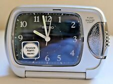 SEIKO TRAVEL ALARM CLOCK ~ QXT019KT ~ Boxed ~ Unused ~ Immaculate.
