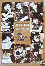 "SUPER JUNIOR ""IT IS OUR TIME AGAIN"" ASIAN POSTER - Korean K-Pop Music, Boy Band"