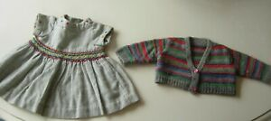 ORIGINAL DRESS AND CARDIGAN FOR ANTIQUE/VINTAGE DOLL OR TEDDY BEAR