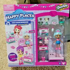 Shopkins Happy Places Cozy Bear Bedroom Welcome Pack With Jascenta NEW