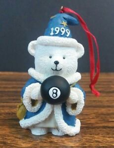 Santa Bear Ornament Retired 1999 Magician Wizard & Eight Ball Dayton Hudsons BOX