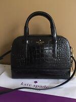 KATE SPADE 💯Authentic Black Riverside Street Exotic Felix Handbag $548