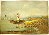 Bords de Sea Mediterranean French Riviera Italy Greece Boats Old Rigs XIX °