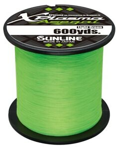 Sunline Xplasma Asegai Braided Fishing Line 600yd. Spool Light or Dark Green