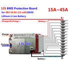 Protección BMS PCB placa para 48v/54.6v 13s 18650 Li-ion Batería Litio 15-45a