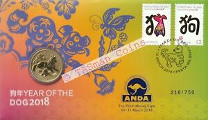 PNC Australia 2018 Lunar Year of the Dog Perth Mint $1 O/P ANDA Perth L/E 750