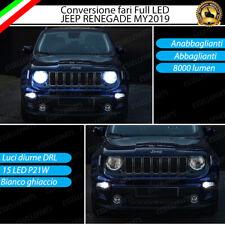 CONVERSIONE FARI FULL LED JEEP RENEGADE MY2019 CANBUS 6000K BIANCO GHIACCIO