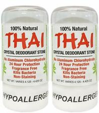Thai Natural Crystal Deodorant Stone 4.25 oz (Pack of 2)
