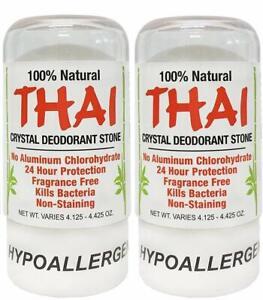 Thai Natural Crystal Deodorant Stone 4.25 oz (Pack of 2)