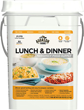 Emergency Survival 30 Day Dried Food Supply Pail SOS Kit Lunch Dinner Meals
