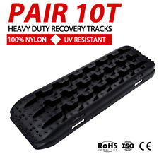 Black 10T Recovery Tracks Off Road 4x4 4WD Car Snow Mud Sand Trax 10 Ton Pair