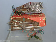 VINTAGE RIVAROSSI 1950's MODEL No.SD-SS 1000/2     LH & RH  ELECTRIC POINTS