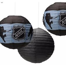New 3 Pack NHL Hockey Paper Lanterns Birthday Party Decorations Supplies