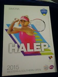 WTA WESTERN & SOUTHERN 5x7 SIMONA HALEP TENNIS CARD 2015 EDITION GIVEAWAY