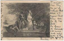1900s La Peche a l'Hamecon French Fishing Postcard