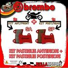 BRPADS-46050 KIT PASTIGLIE FRENO BREMBO VICTORY CROSS COUNTRY TOUR 2012- 1731CC