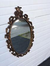 Carved Distressed Gold Leaf Wall Bathroom Vanity Mirror 6585