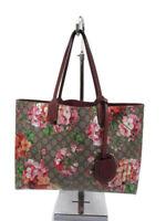 Gucci GG Blooms Floral Beige Antique Rose Leather Reversible Tote Handbag