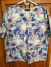 Pink Panther Surfing Scrub Top Xl Surf'S Up! Med / Vet Tech😷👌Rare! Unisex!
