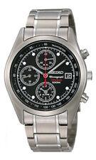 SEIKO Alarm Chronograph Titanium SNA555 SNA555P1 Men Black Dial Watch