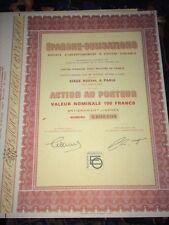 ACTION ÉPARGNE-OBLIGATIONS, Vers 1960.