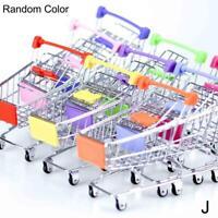Kinder Rollenspiel Mini Metall Einkaufswagen & Korb Supermarkt Handwagen