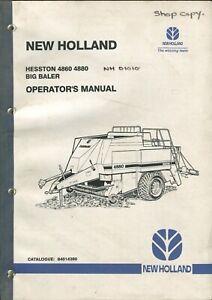 New Holland Hesston 4860 4880 Big Baler Operator's manual